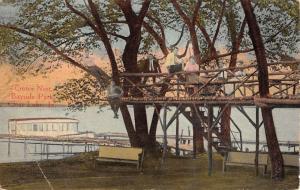 Clear Lake Iowa Bayside Park Crows Nest Antique Postcard K29097