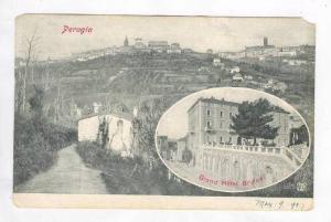 PERUGIA, 2-View, Aerial View, Exterior, Grand Hotel Brufani, Italy, 00-10s
