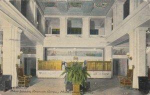 MINNEAPOLIS , Minnesota , 1911 ; Main Lobby, Radison Hotel