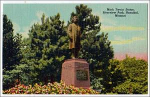 Mark Twain Statue, Riverview Park, Hannibal MO