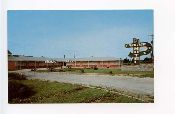 Camden SC Parkview Motel on US 1 and 601 Postcard