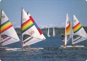 Sailboarding , TOUKLEY N.S.W. , Central Coast  , Australia , 70-80s