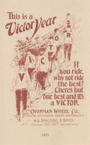 Boston-Chicago~Overnman Wheel~Spalding~Letter Sweater~Bicycles~Advrtsmnt~c1910