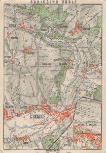 Babiccino Udoli Czech Republic Map Postcard