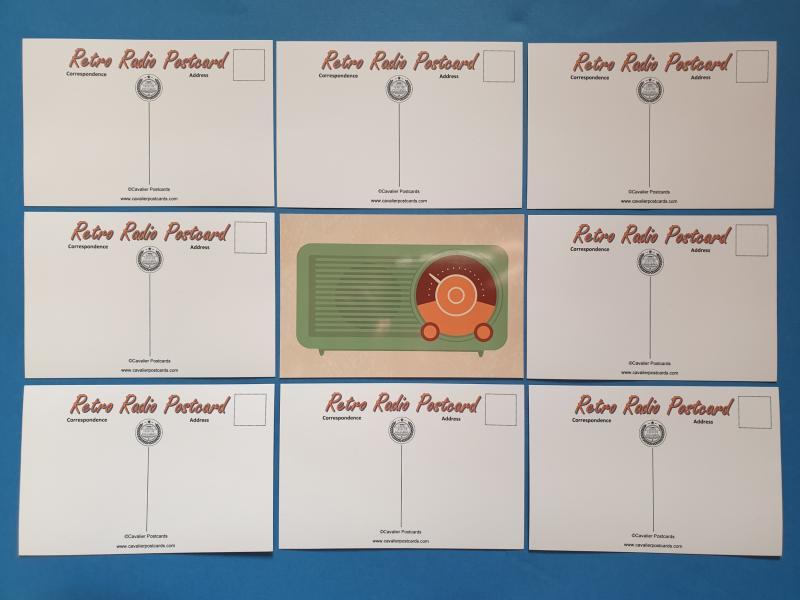 Set of 9 NEW Retro Vintage Radio Icon Postcards