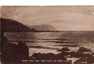 POrt Erin Bay and Calf of Man Isle of Man Panoramic view