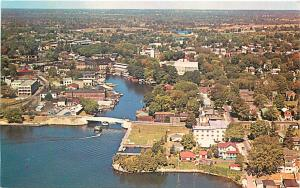 Air View Gananoque Thousand Island Vacationland Ontario Canada