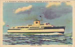 S S Pocahontas Virginia Ferry Corporation