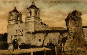 TX - San Antonio. Mission Concepcion de Acuna (First Mission)