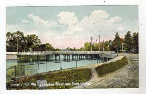 New Hampshire  Laconia Winnesaukee River and Long Bridge