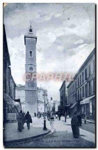 Old Postcard Nimes Tower Clock