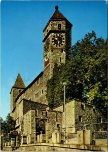 VINTAGE CONTINENTAL SIZE POSTCARD RAPPERSWILL IN THE CITY OF SCHLOSS GERMANY