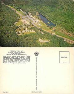 Air View of Indian Head Resort, Route 3,  Lincoln, New Hampshire, NH, Chrome