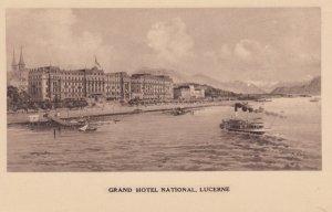 LUZERN, Switzerland, PU-1924; Grand Hotel National, Ships