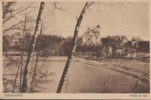 Nikolassee Germany In Winter Antique Postcard