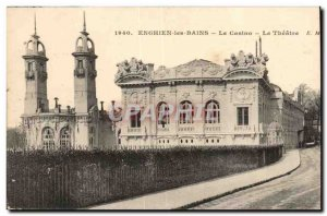 Enghien les Bains Old Postcard The Casino Theater