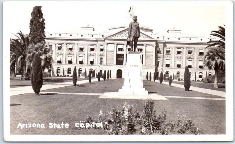 Phoenix, Arizona RPPC Real Photo Postcard State Capitol Building c1930s Unused