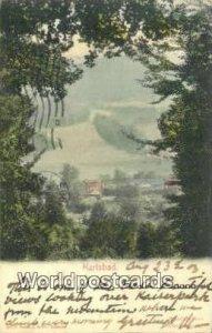 Blick von Finlater's Tempel nach Caf» Kaiserpark Karlsbad Austria 1903