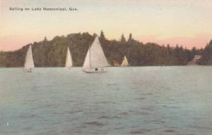 Sailboats, Sailing On Lake Massawippi, Quebec, Canada, 1900-1910s
