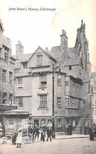 Scotland, UK Old Vintage Antique Post Card John Knox's House Edinburgh U...