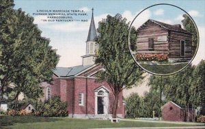 Lincoln Narriage Temple Pioneer Memorial State Park Harrodsburg In Old Kentucky