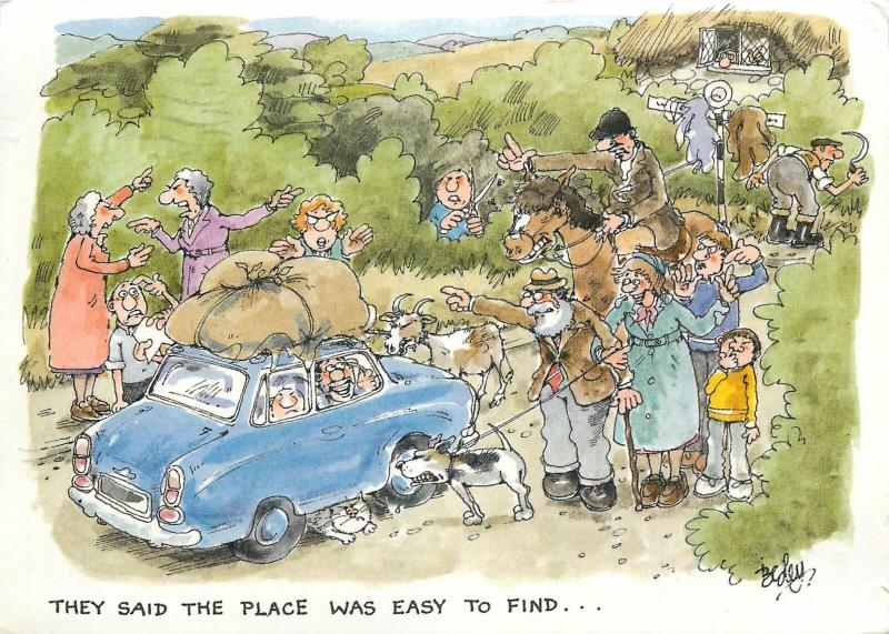 They said the place is easy to find comic by Besley
