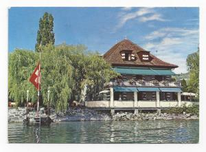 Switzerland Lutry Lausanne Pierre Paris Restaurant Postcard