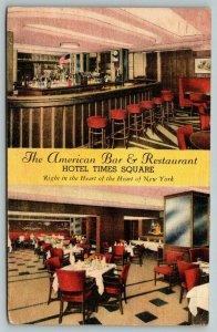 New York City~Hotel Times Square~American Bar~Stools~Restaurant~Dining~'49 Linen