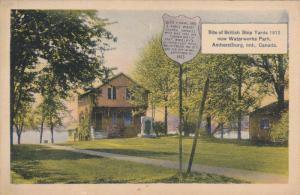AMHERSTBURG, Ontario, Canada, PU-1934; Site Of British Ship Yards, Now Waterw...