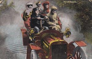 Motor Fiends, Family riding in convertable car, PU-1904