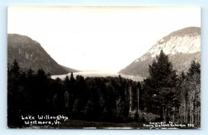 Postcard VT Westmore Lake Willoughby RPPC Harry Wendall Richardson Photo J5