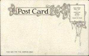 Harrisburg PA Jerauld Shoe Co Store Interior c1905 Postcard