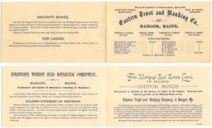 Vintage Brochure/Card, EASTERN TRUST and BANKING CO. of B...