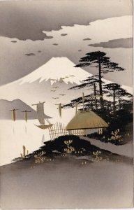 Japan Mount Fuji Gold Tinted sk3202