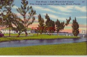 1964 CLUB HOUSE - LAKE WORTH GOLF COURSE, LOOKING EAST TOWARD OCEAN, FLORIDA
