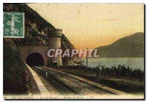 Old Postcard Aix les Bains Lake Bourget Rocks Brison