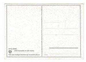 Otto Pippel Spatsommer in der Heide Germany Landscape Sheep 4X6 Art Postcard