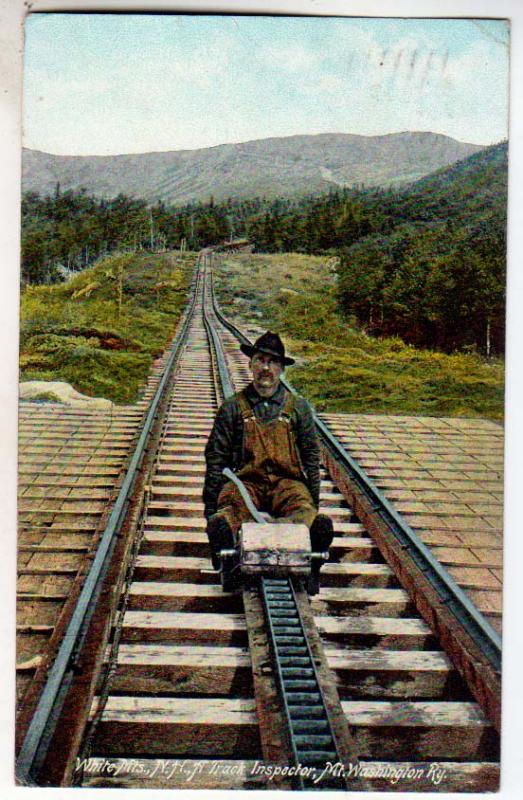 Track Inspector, Mt Washington Ry. White Mts NH