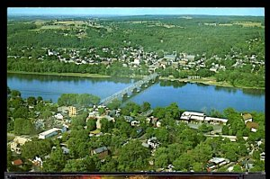 USA New Hope Pa. & Lambertville NJ Aerial View the Delaware River