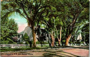 Concord NH Old Walker House Postcard used (31019)