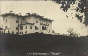 Sweden - HKH Kronprinsessans Solliden c1910 Real Photo Postcard