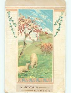 Divided-Back EASTER SCENE Great Postcard AA1495