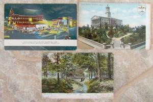 LOT OF 3 ANTIQUE & VINTAGE POSTCARDS - VIEWS OF TENNESEE