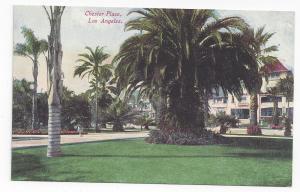 CA Los Angeles Chester Place Palm Tree Mansion Van Ornum Vintage Postcard