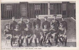 AYER , Massachusetts , 00-10s : Major General Hodges & Staff , Camp Devens