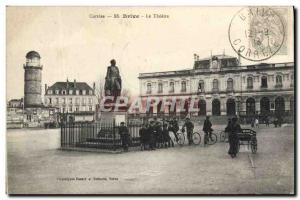 Old Postcard Brive Correze The Theater Children Velo Cycle