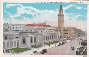 Minnesota Minneapolis Post Office and Milwaukee Depot Curteich
