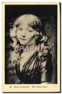 Old Postcard Musee Carnavalet Madame Roland child