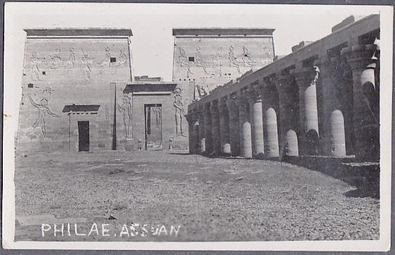 Philae Aswan RP Sent by Siegfried Horn -  Egypt #344 & 353