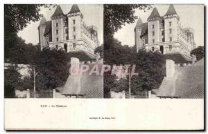 Stereoscopic Card - Pau - Le Chateau - Old Postcard